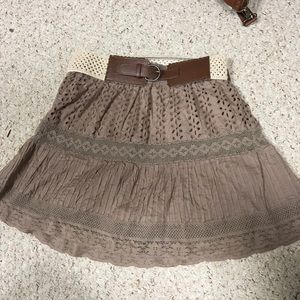 Vanity Large brown lace skirt